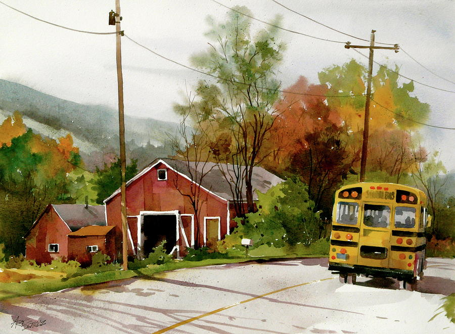Home Bus Painting by Art Scholz