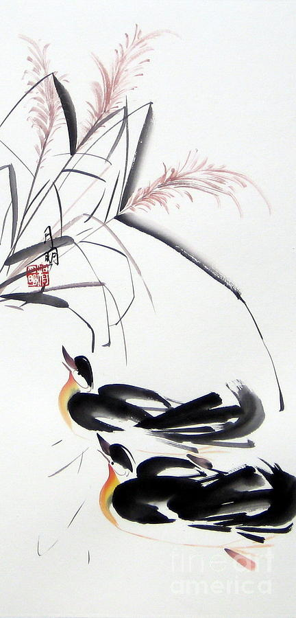 Chinese Painting Painting - Home Coming by Ming Yeung