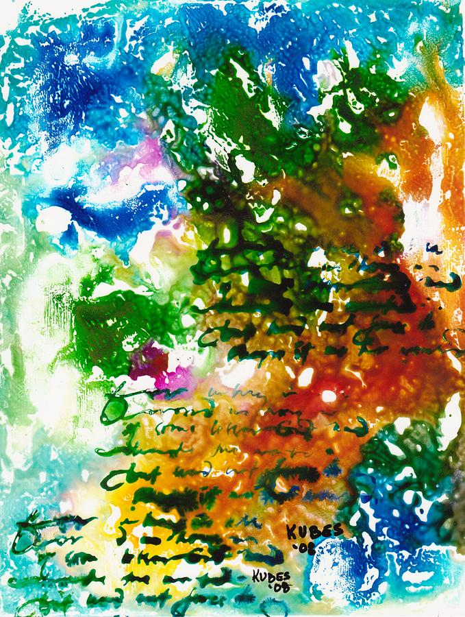Abstract Mixed Media - Home For Christmas by Susan Kubes
