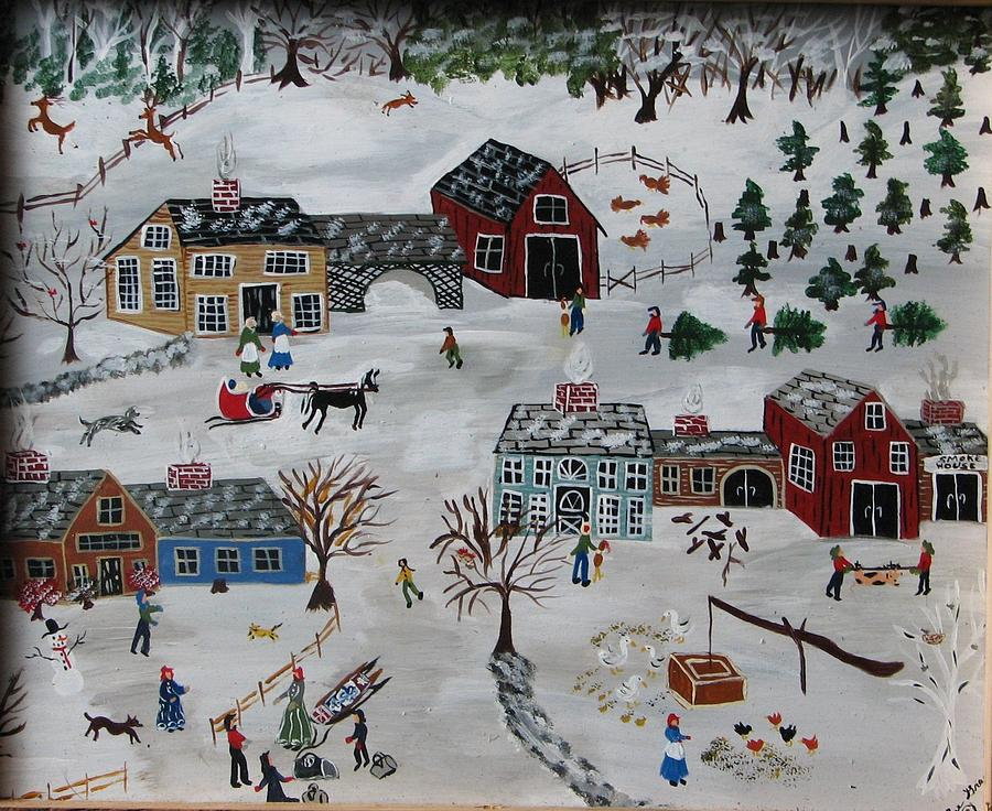 Xmas Tree Painting - Home For The Hoildays by Lee Gray