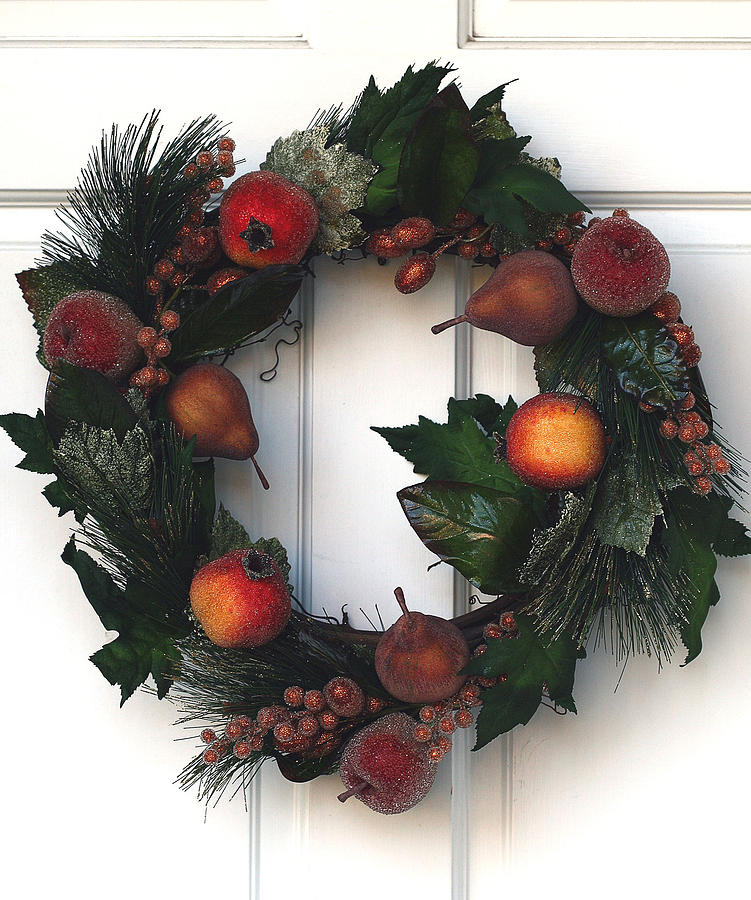 Wreath Photograph - Home For The Holidays by Rebecca Cozart