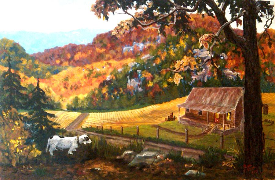 Landscape Painting - Home From The Hunt by Nyiece Pregeant Owens