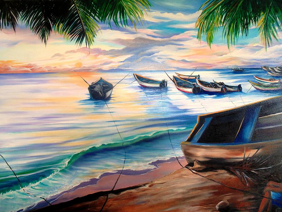Home From The Sea Painting by Karin  Dawn Kelshall- Best
