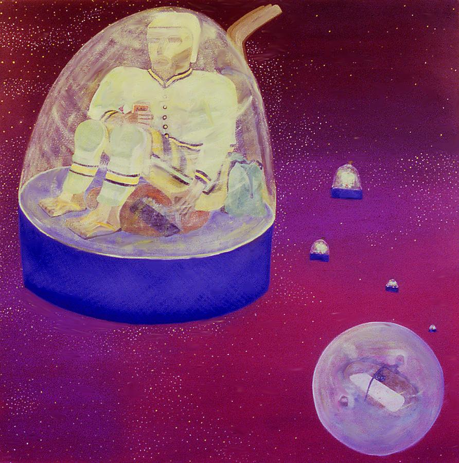Hockey Painting - Home Game by Ken Yackel