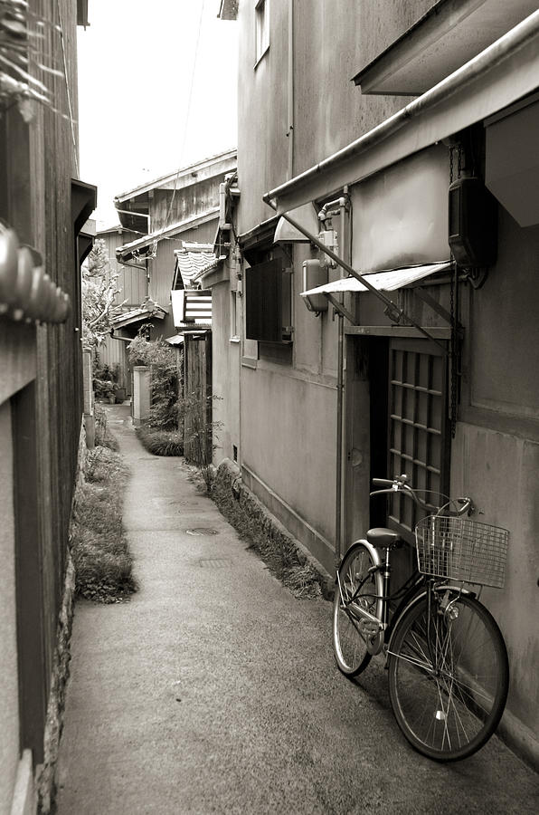 Bicycle Photograph - Home In Kyoto by Jessica Rose