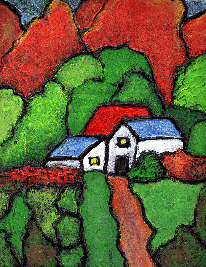 Rural Painting - Home In The Country by Wayne Potrafka