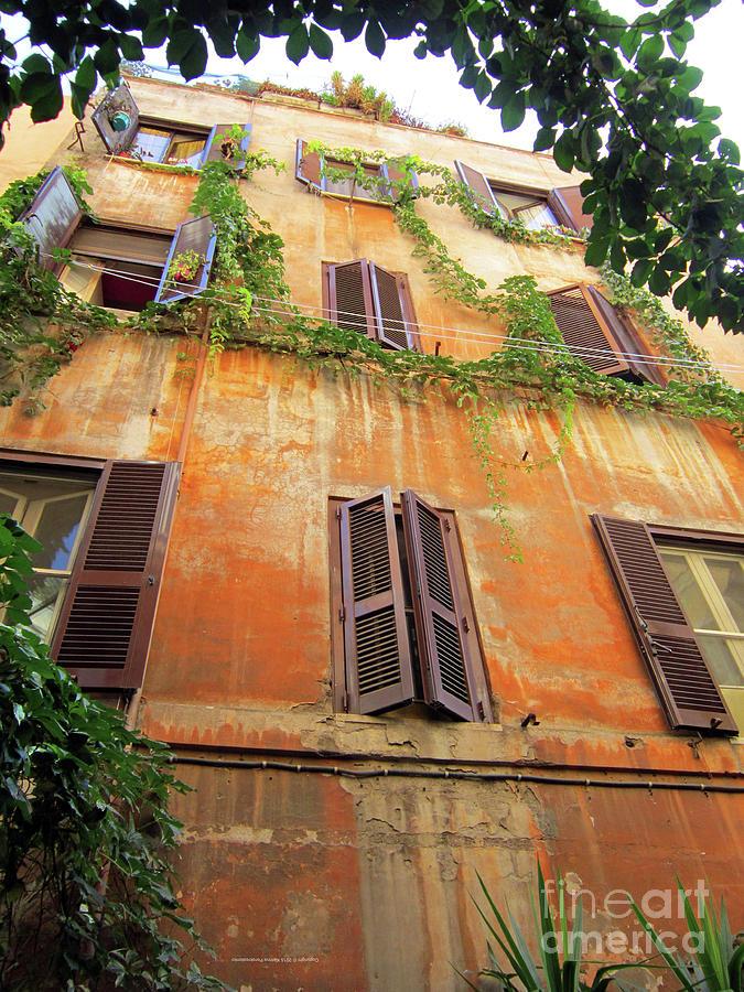Building Photograph - Home In Trastevere by Katrina Perekrestenko