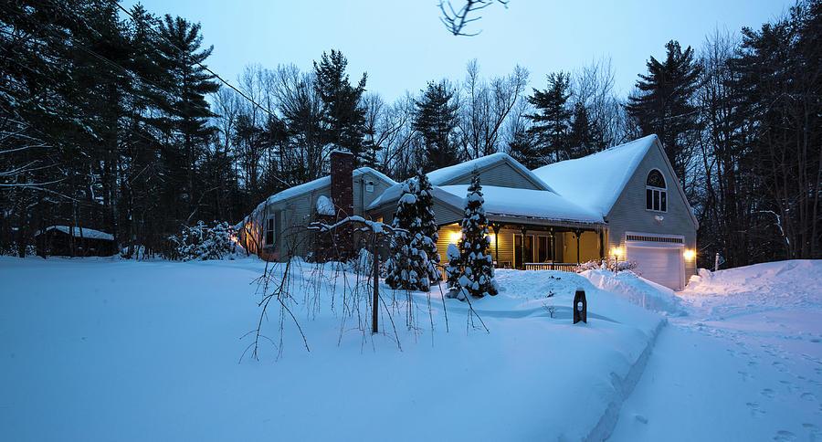 Home in Winter by Robert McKay Jones