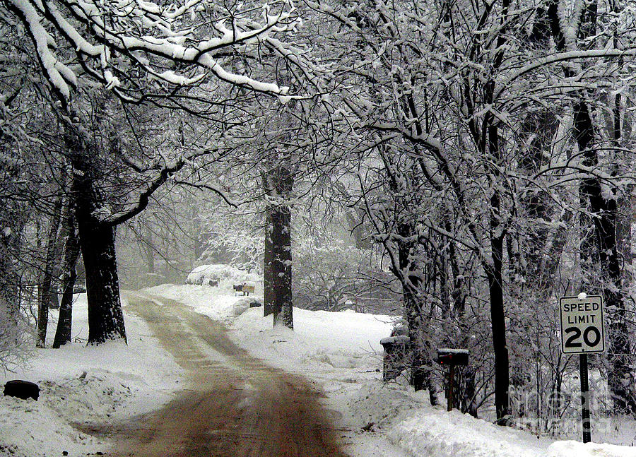 Snow Photograph - Home Is Just Around The Corner by David Bearden