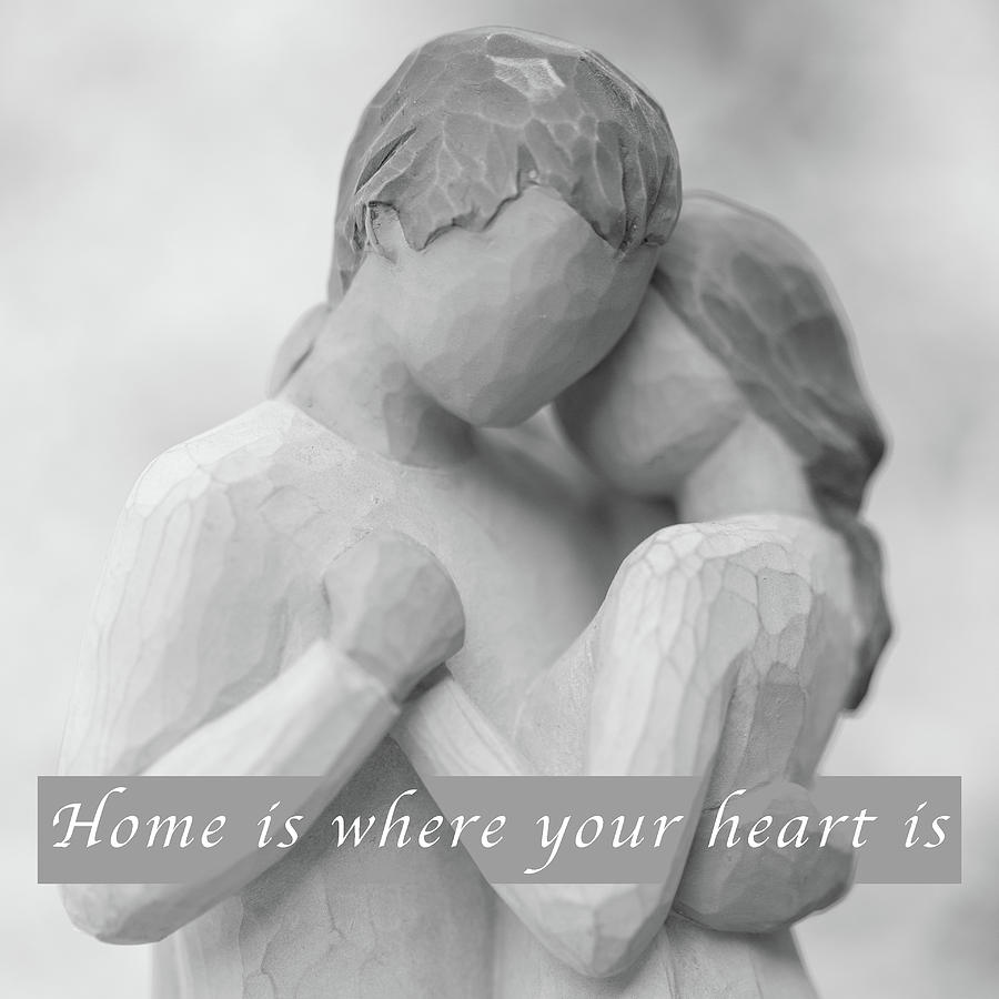 Square Photograph - Home Is Where Your Heart Is by MindGourmet