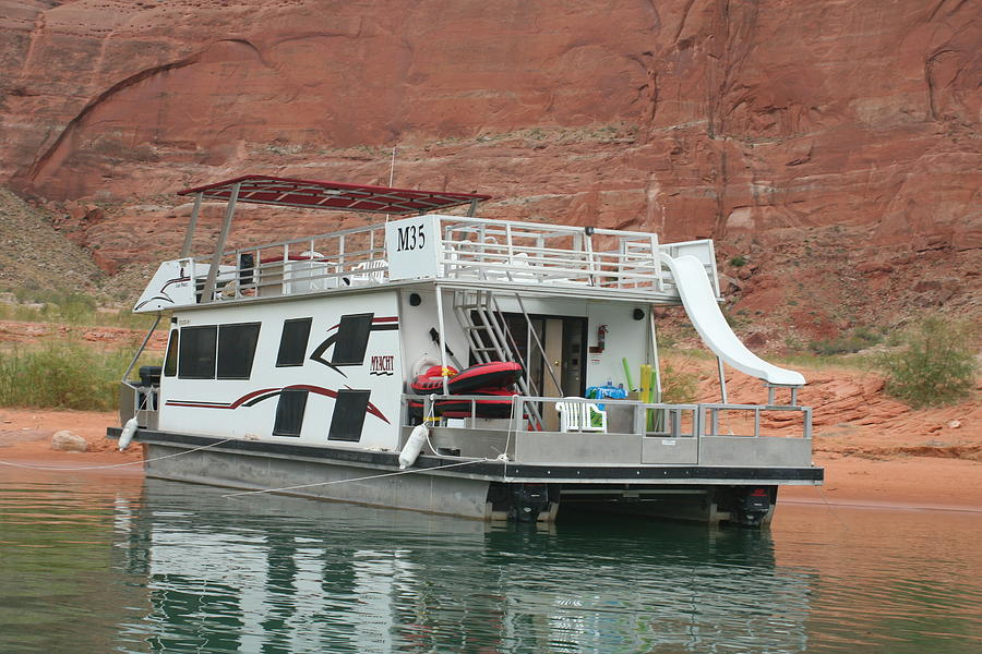 Lake Powell Photograph - Home On The Lake by Amy Holmes