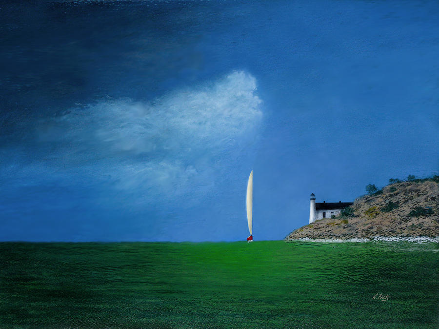 Sailboat Painting - Home Stretch by Gordon Beck
