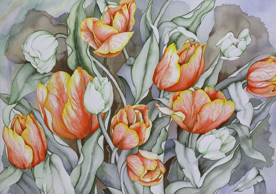Flowers Painting - Home Sweet Home 2 by Liduine Bekman