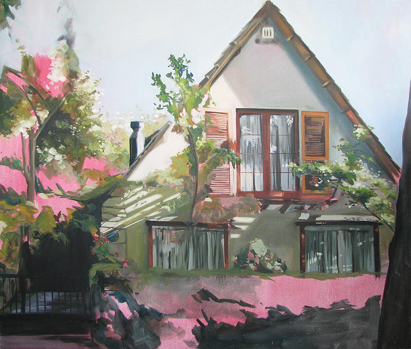 Landscape Painting - Home Sweet Home 2 by Lucia Rodriguez