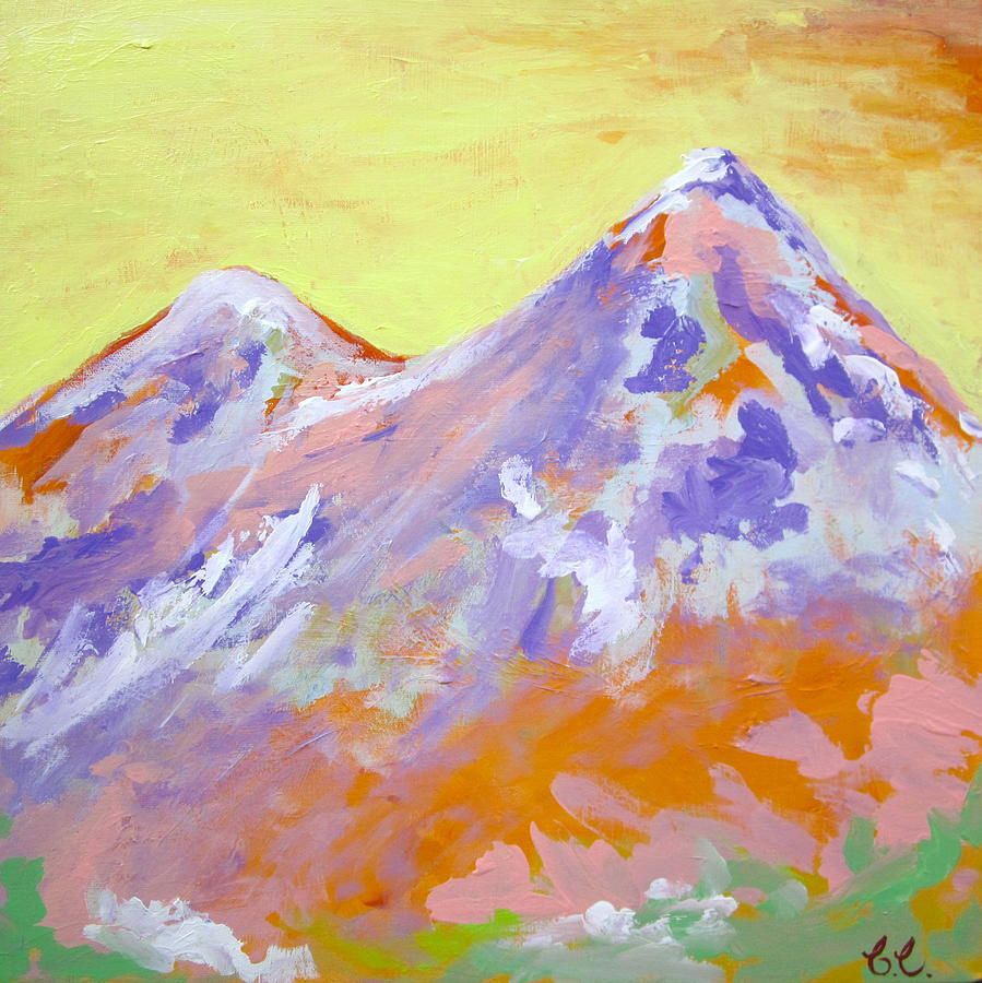 Mountains Painting - Home Sweet Home by Britta Loucas