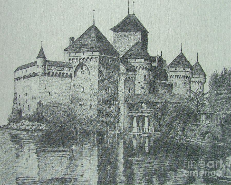 Castle Drawing - Home Sweet Home by Dan Hausel
