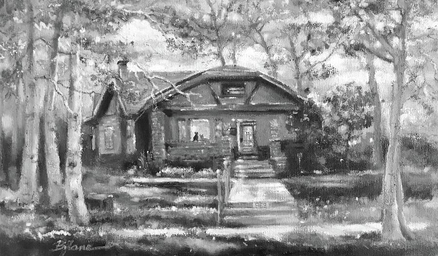 Home Sweet Home- Ewa's Denver Home - Black and White Version by BJ Lane