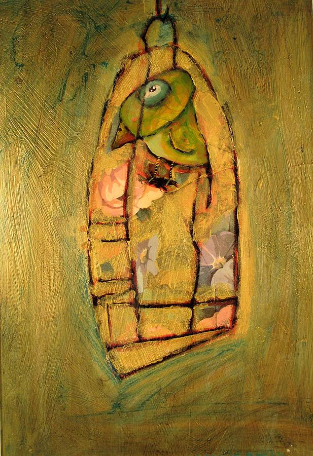 Bird Cage Painting - Home Sweet Home For Carlos by Charlie Spear
