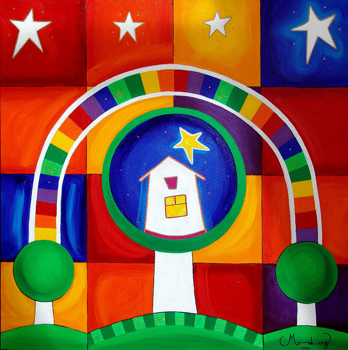 Painting Painting - home Sweet Home by Karin Momberg