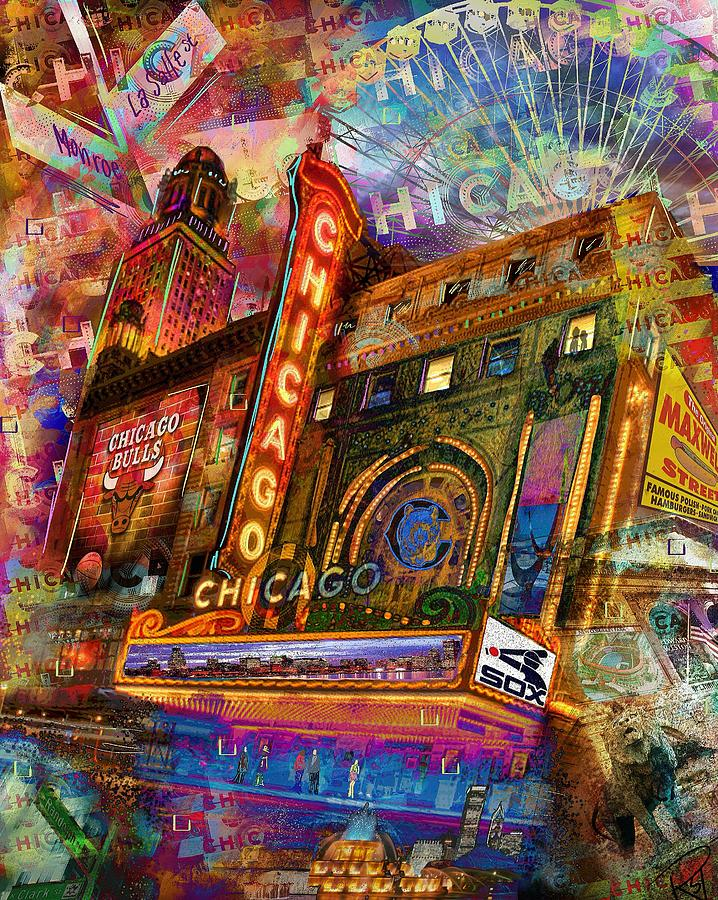Chicago Digital Art - Home Sweet Home by Rebecca Tabor
