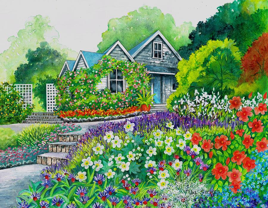 House Painting - Home Sweet Home by Val Stokes