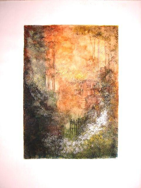 Land Scape Painting - Home by Tokiko Anderson