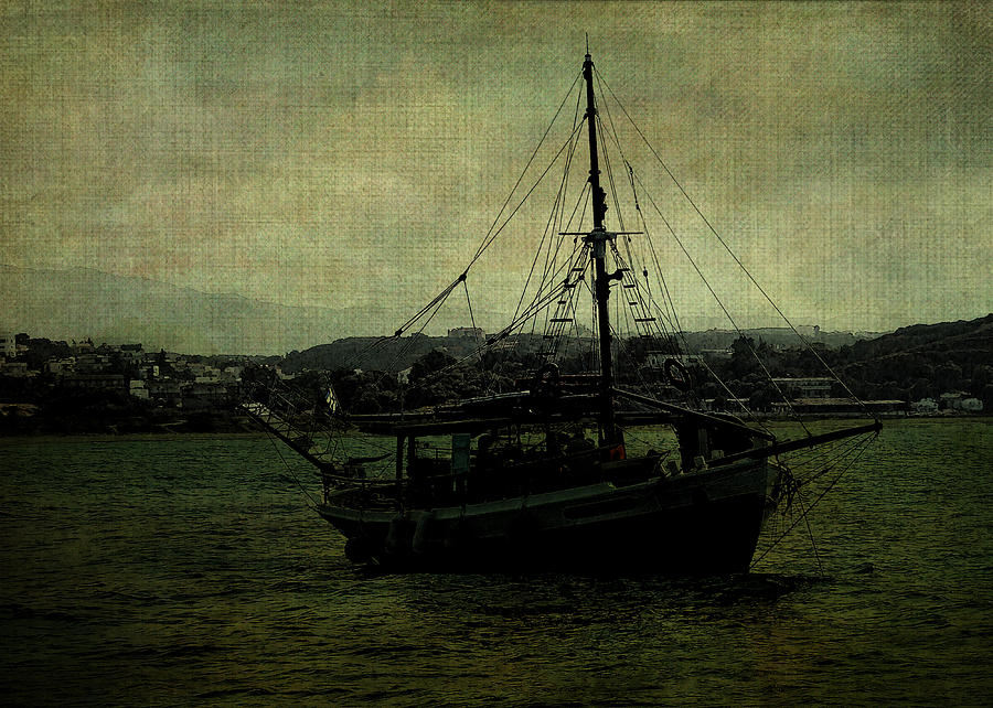 Yacht Digital Art - Homecoming Pirate by Sarah Vernon