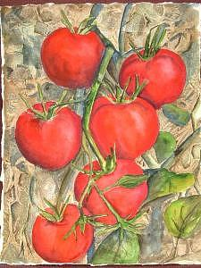Tomatoes Painting - Homegrown by Diane Ziemski