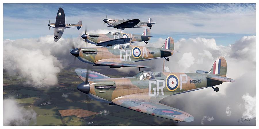 Battle of Britain Homeland Formation - Robert Stanford Tuck, Supermarine Spitfire Mk I by Craig Tinder