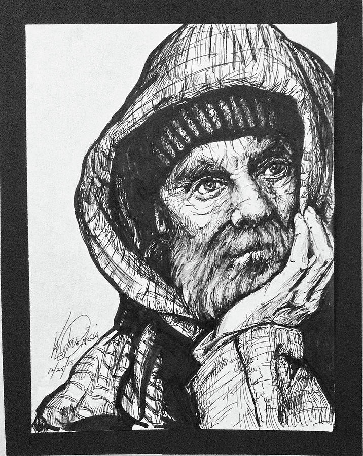 Image result for homeless man drawing