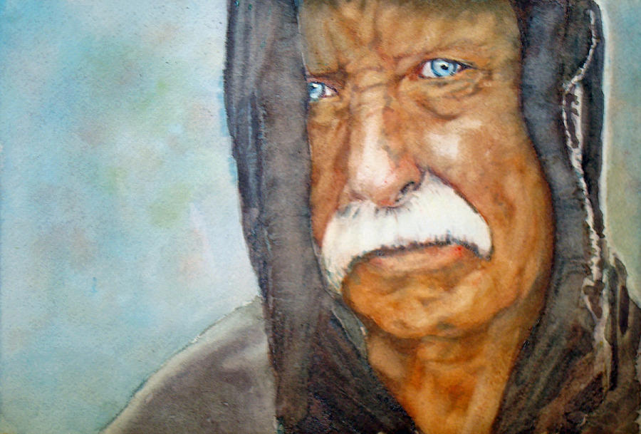 Vietnam Painting - Homeless Vietnam Veteran by Kerra Lindsey