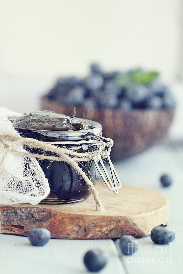 Homemade Blueberry Preserves and Fruit by Stephanie Frey