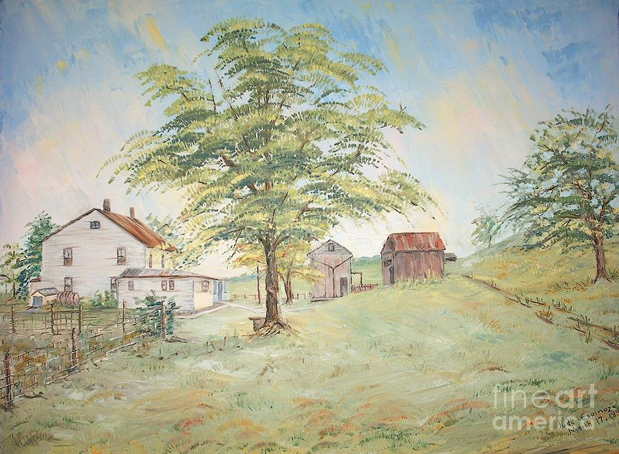 Homeplace - The Farmhouse Painting by Judith Espinoza