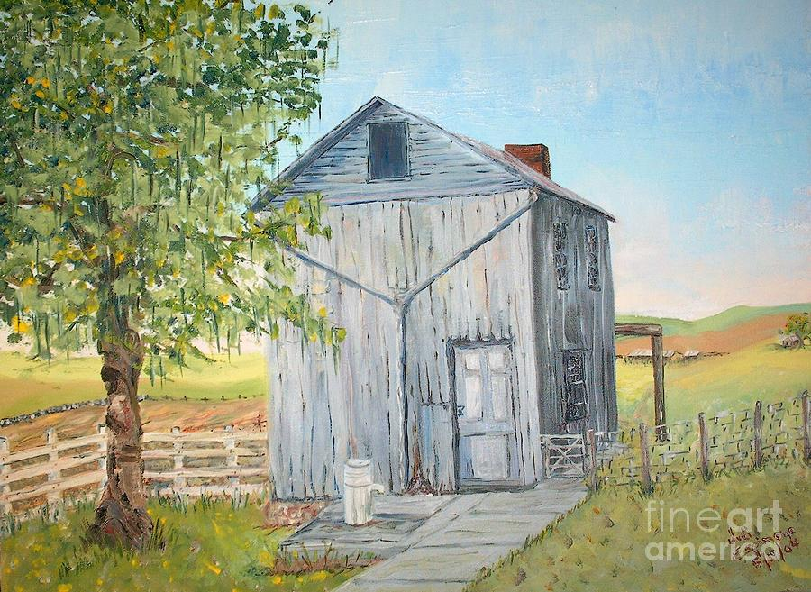 Homeplace - The Washhouse Painting by Judith Espinoza