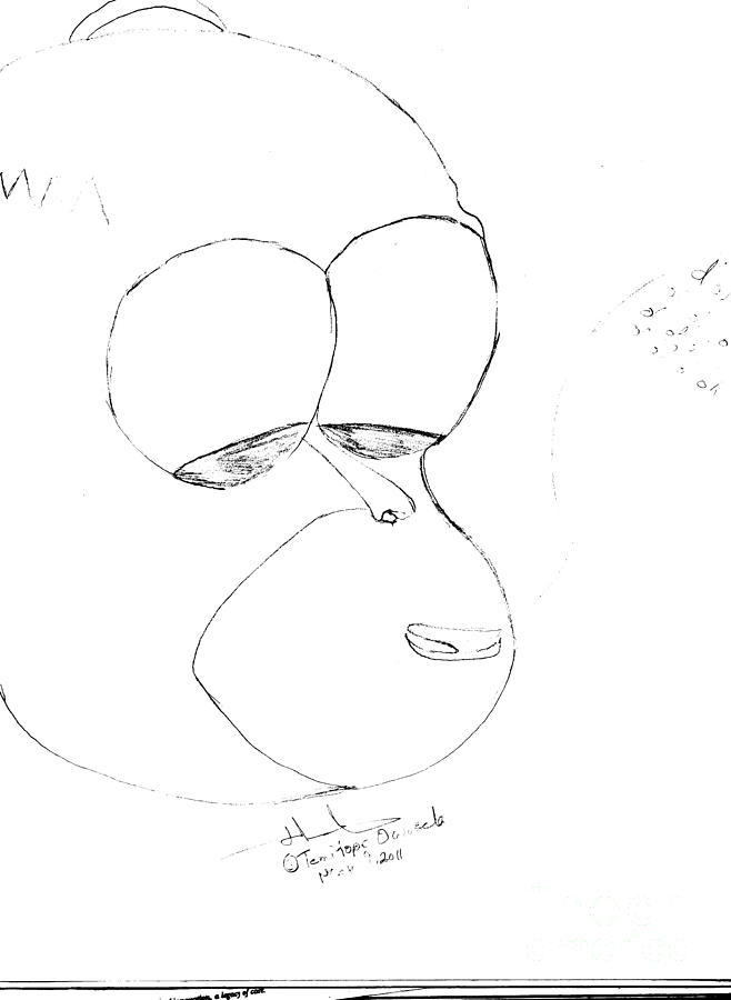 Homer J. Simspon Drawing by Temitope Owosela