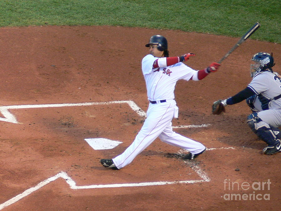 Manny Photograph - Homerun Swing by Kevin Fortier
