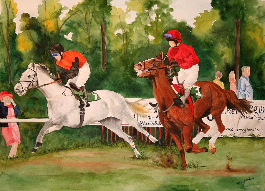 Racing Painting - Homestretch by Jean Blackmer