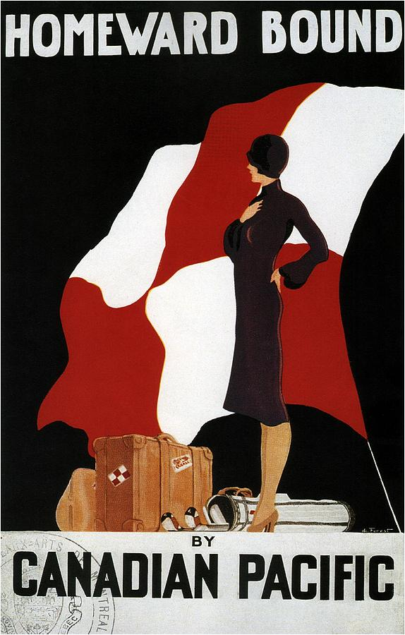 Homeward Bound - Canadian Pacific - Retro Travel Poster - Vintage Poster Mixed Media