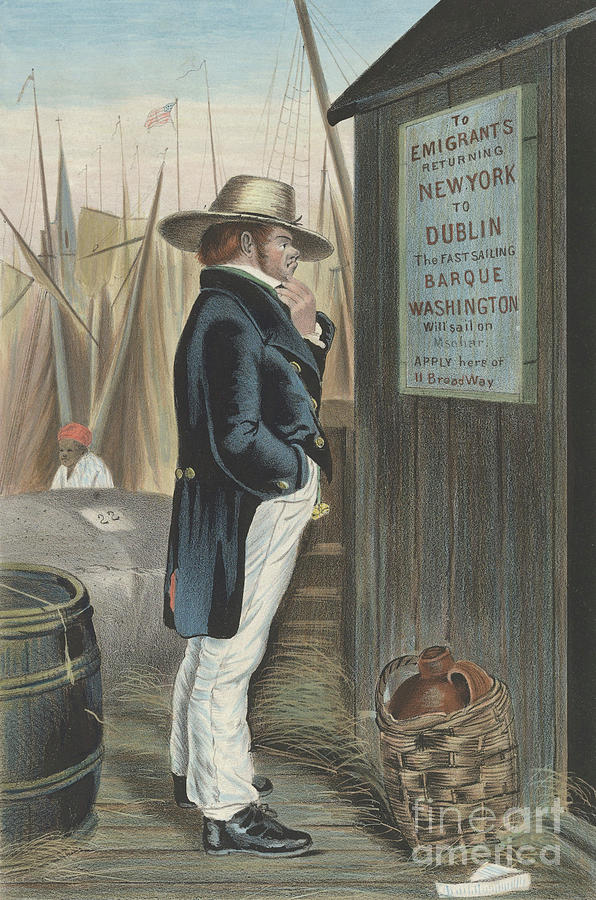 Currier And Ives Painting - Homeward Bound  New York by Currier and Ives