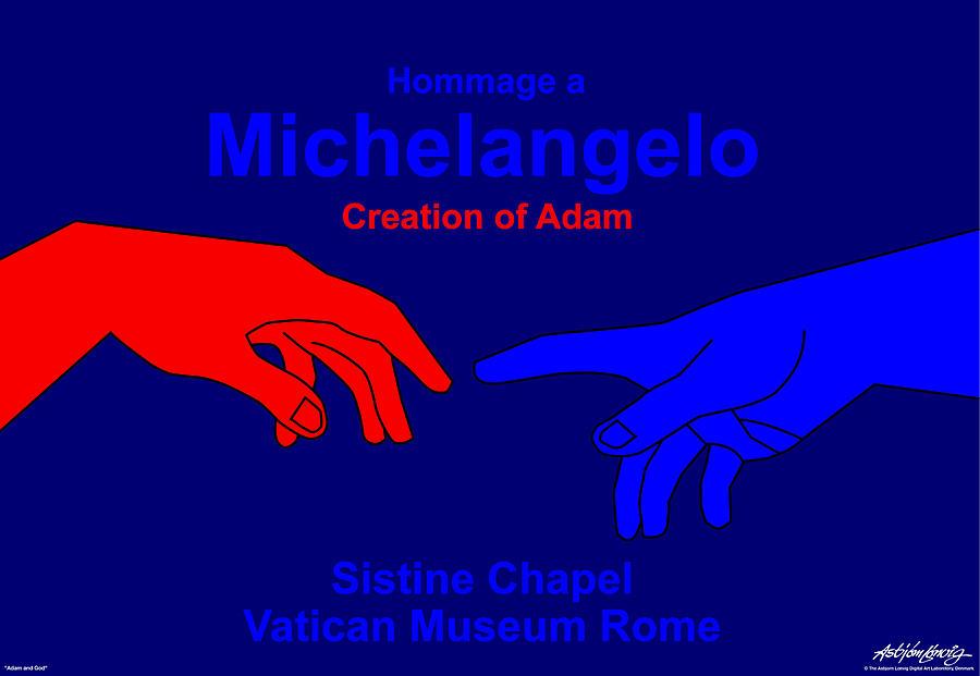 Michelangelo Digital Art - Hommage A Michelangelo  by Asbjorn Lonvig