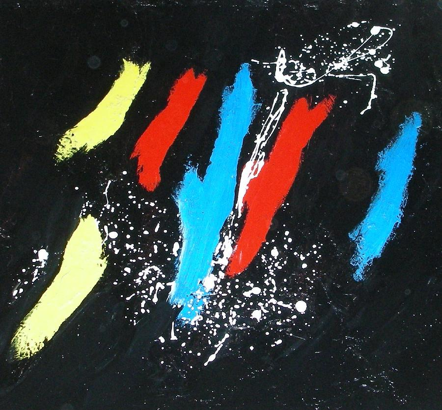 Hommage A Miro Painting by Patrice Brunet