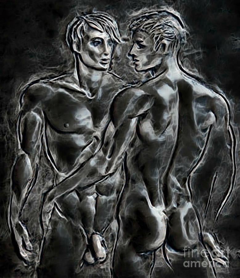 Homoerotic fantasy art