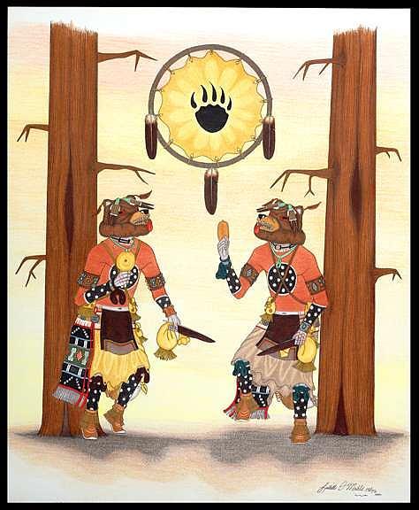 Hon Kachina-bear Mixed Media by Lavelle Mahle
