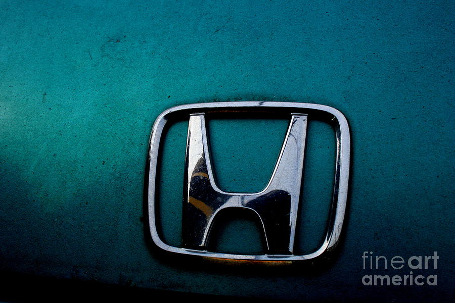 Transportation Photograph - Honda Civic Hood Badge - Img4514 by Wingsdomain Art and Photography