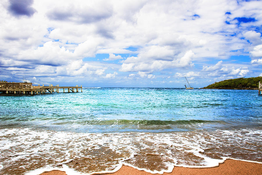 Honduras Beach by MARLO HORNE