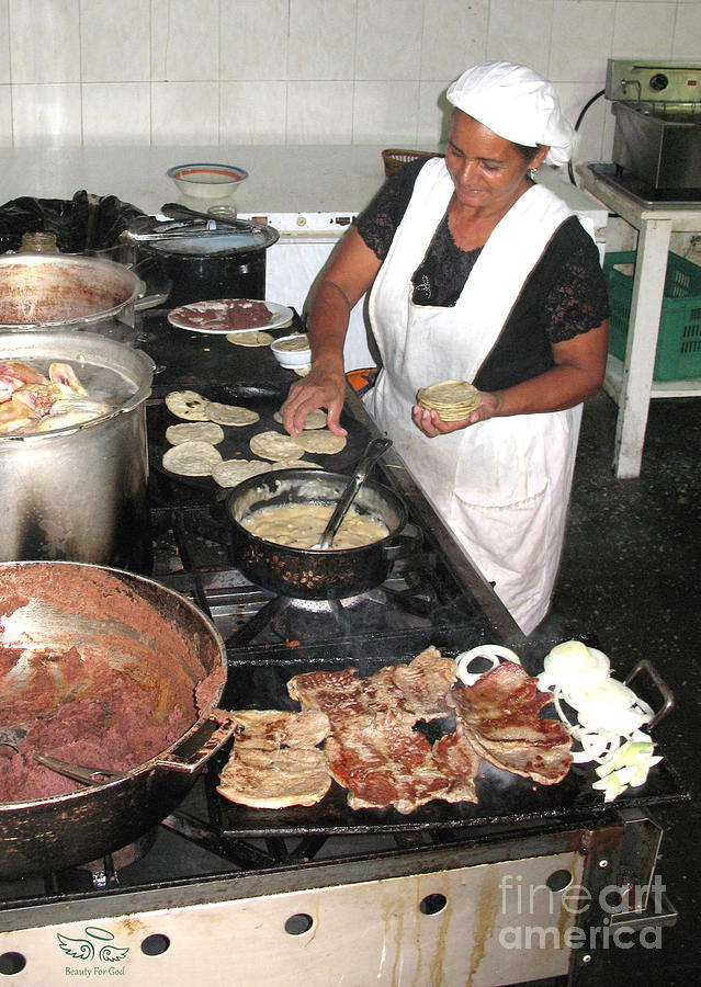 Restaurant Photograph - Honduras Cooking by Beauty For God