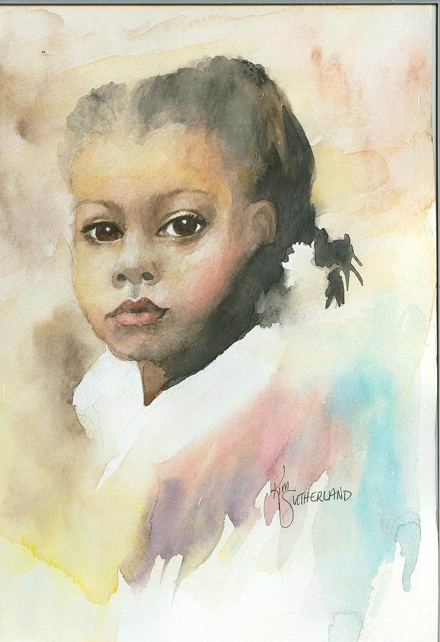 Girl Painting - Honey Child by Kim Sutherland Whitton