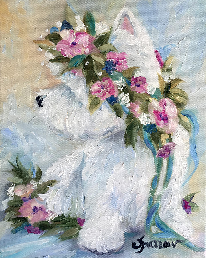 Westie Painting - Honey by Mary Sparrow
