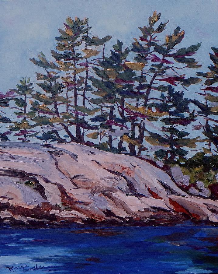 Original Painting - Honey Moon Bay by Monica Ironside