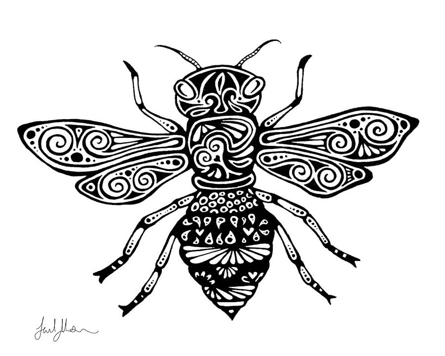 Honeybee Drawing By Lael Johnson